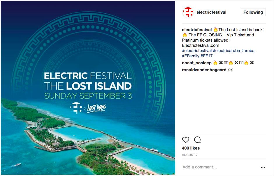 EF Lost Island Closing