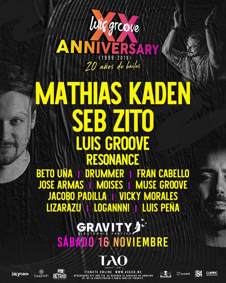 gravity presenta luis groove xx anniversary