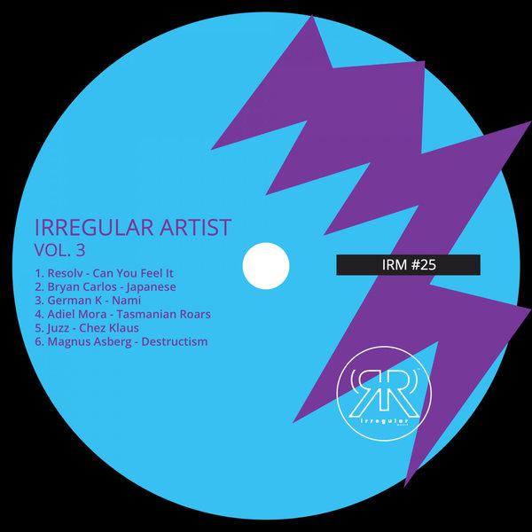 Compilado/lanzamiento Irregular Artist Vol. 3 [Irregular Musik - IRM025] Minimal Deep Tech, incluye 06 cortes de música electrónica